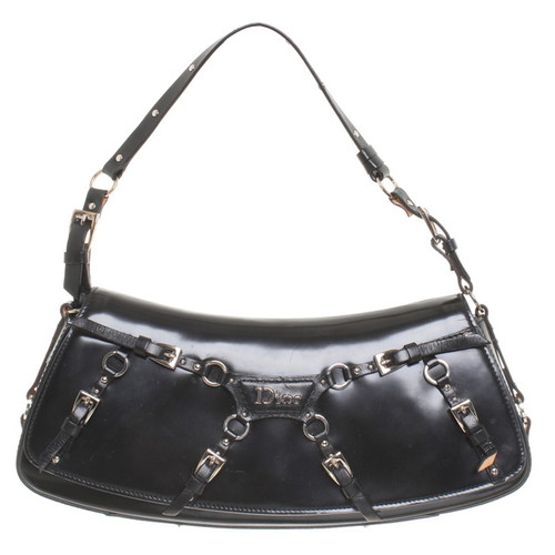 65d41b60287b0 Christian Dior Schultertasche in Schwarz - Second Hand Christian ...