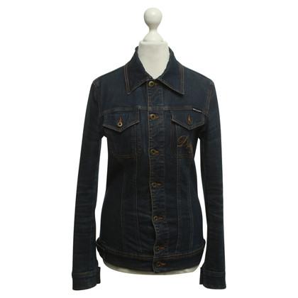 D&G Giacca di jeans blu scuro