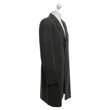 Donna Karan Lange blazer in grijs