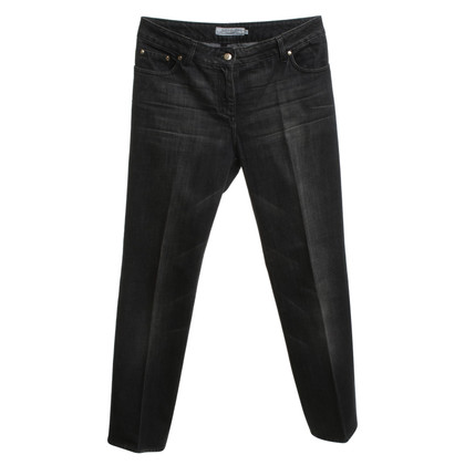 Yves Saint Laurent Black jeans with wash