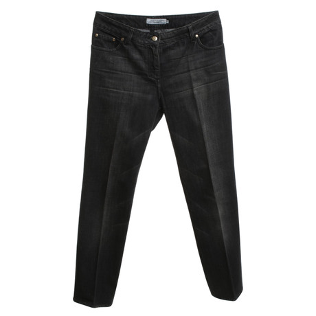 Yves Saint Laurent Schwarze Jeans mit Waschung Grau