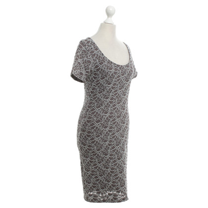 Velvet Lace dress in taupe / grey