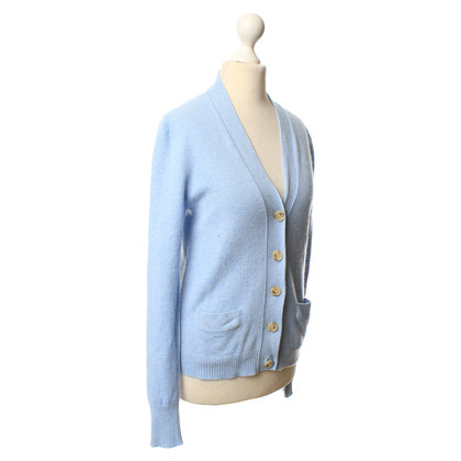 J. Crew Hellblaue Strickjacke