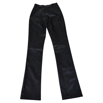 Joseph Leather pants with snake leather embossing