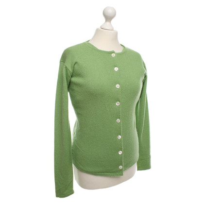 Allude Cashmere twinset in Green