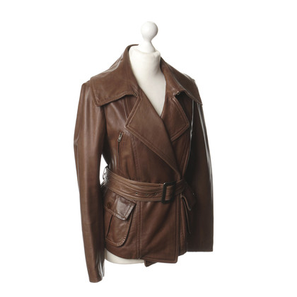 DKNY Leren jas Brown