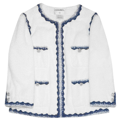 Chanel Blazer in wit / blauw