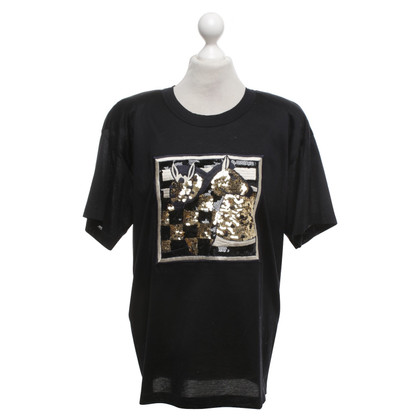 Escada T-shirt with sequin trim