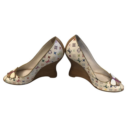 Louis Vuitton Peep-toes con motivo monogramma