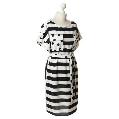Carolina Herrera Schede jurk met patroon