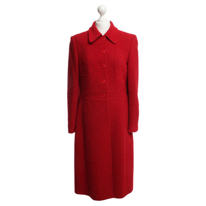 Escada Fitted coat in red