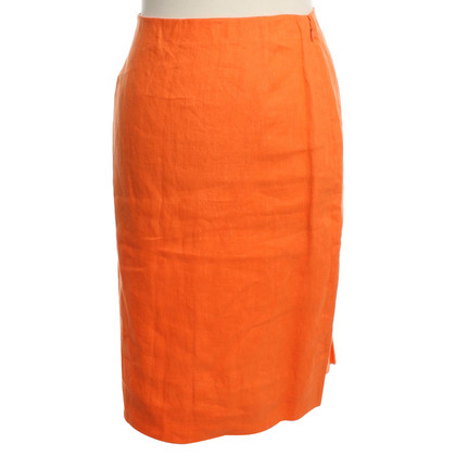 Loro Piana Linen skirt in orange
