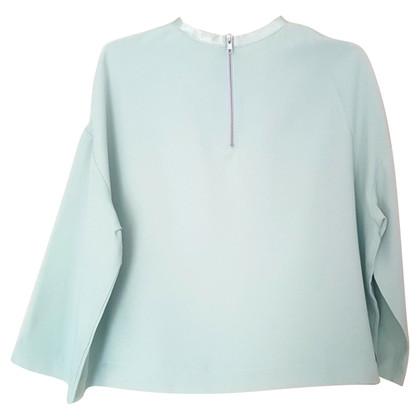 Ganni Blouse shirt in mintgroen