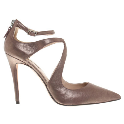 Pura Lopez pumps in bronzo metallizzato