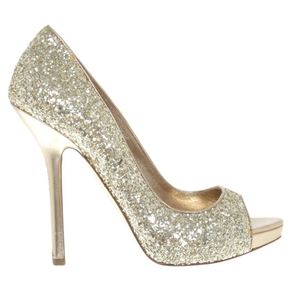 Miu Miu Peep-toes with glitter coating
