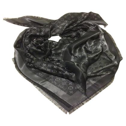 Louis Vuitton LOUIS VUITTON shawl shines black