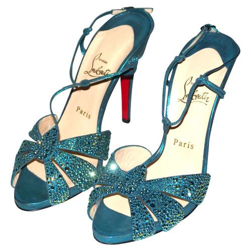 eb1aebc0ba Christian Louboutin Turquoise sandals - Second Hand Christian ...