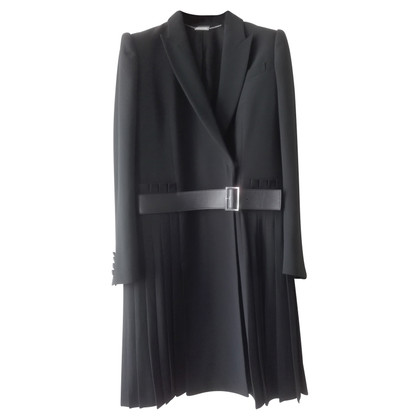 Alexander McQueen AM  black crepe suit coat
