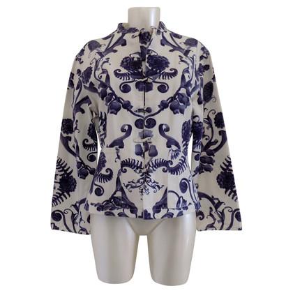 Moschino Jacke in Weiß & Blau