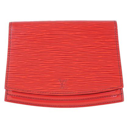 """Louis Vuitton """"Tilsitt Pochette Epi leather"""" in red"""
