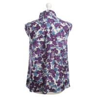 Max Mara camicetta di seta con stampa floreale
