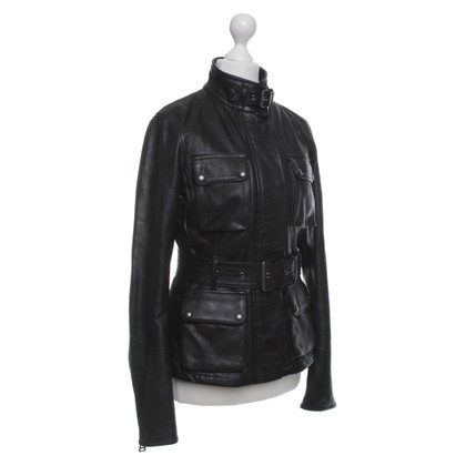 Belstaff Giacca in pelle con tasche applicate