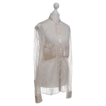 By Malene Birger Delicate lace blouse with silk