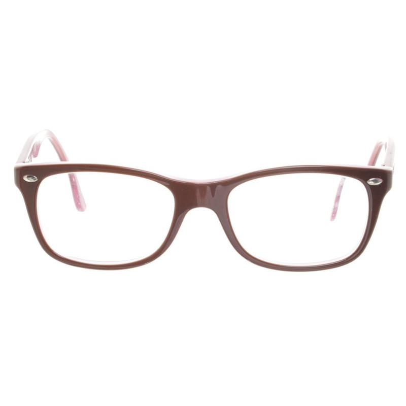 ray ban brille rosa braun