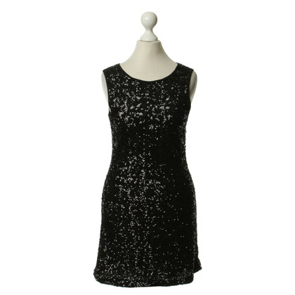 Velvet Pailettenkleid in black