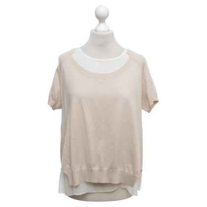 Patrizia Pepe Top in beige / bianco