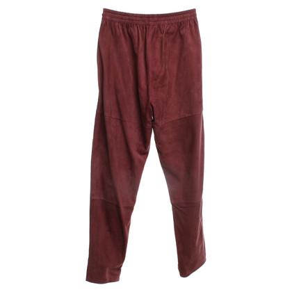 Closed pantaloni in pelle scamosciata a Auburn