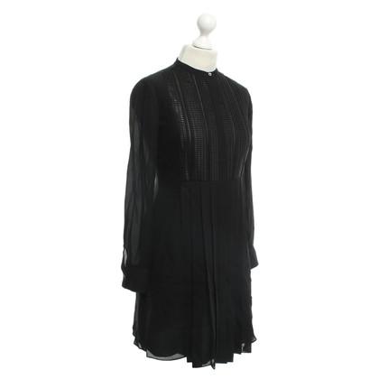 Vince zijden jurk in zwart
