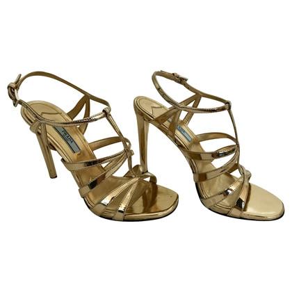 Prada sandali color oro