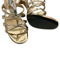Prada Golden sandals
