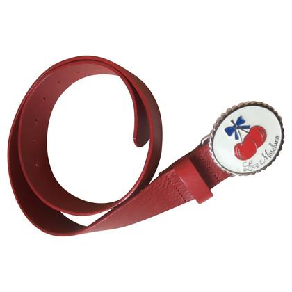 Moschino Love Moschino amour ceinture marine de cerise rouge