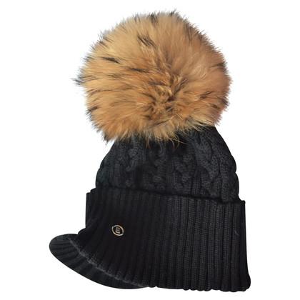 Bogner Wool cap with removable coat bobbin