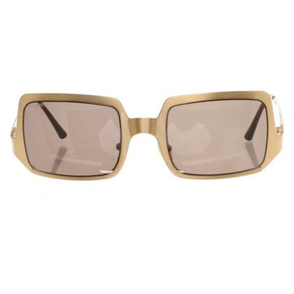 Chanel Goudkleurige zonnebril