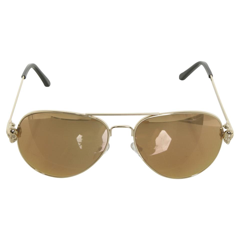 philipp plein lunettes de soleil de couleur or acheter philipp plein lunettes de soleil de. Black Bedroom Furniture Sets. Home Design Ideas
