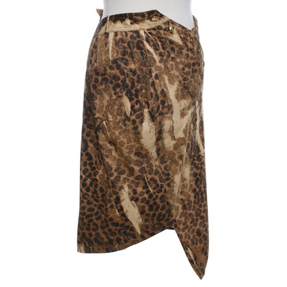 Christian Dior skirt with leopard print