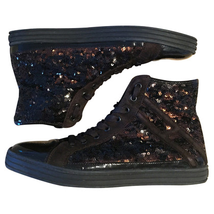 Hogan Top Sneakers alti con paillettes