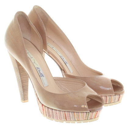 Other Designer Shy peep-toe patent leather