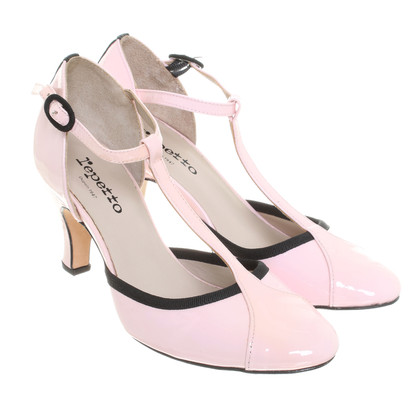 Repetto Pumps mit T-Strap in Rosa