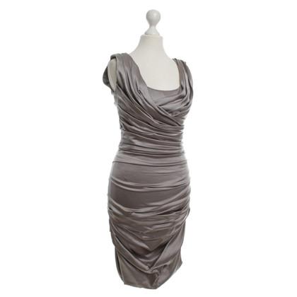 Dolce & Gabbana Silk dress in silver