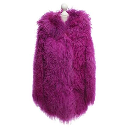 Versus Cappotto realizzato in vera pelliccia