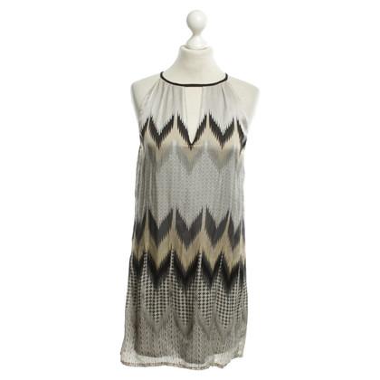 Set zijden jurk met print