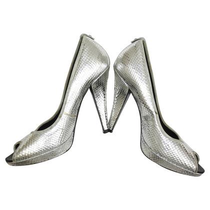 Karen Millen zilverachtige pumps