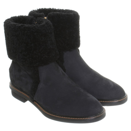 Fendi Ankle boots with lambskin details