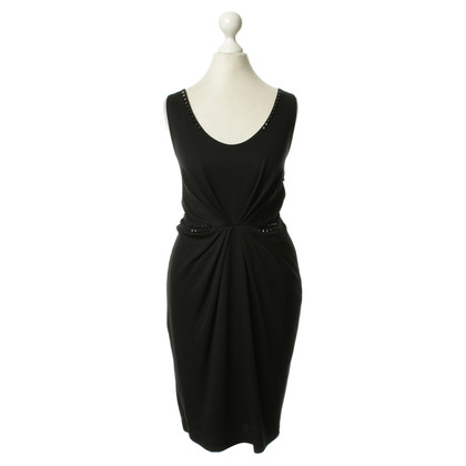 Rich & Royal Jersey dress in black with ruffle