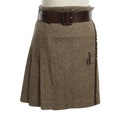 Burberry Wrap skirt with pattern