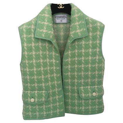 Chanel Gilet in menta verde